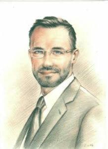 Drawing of Gyorgy Gattyan